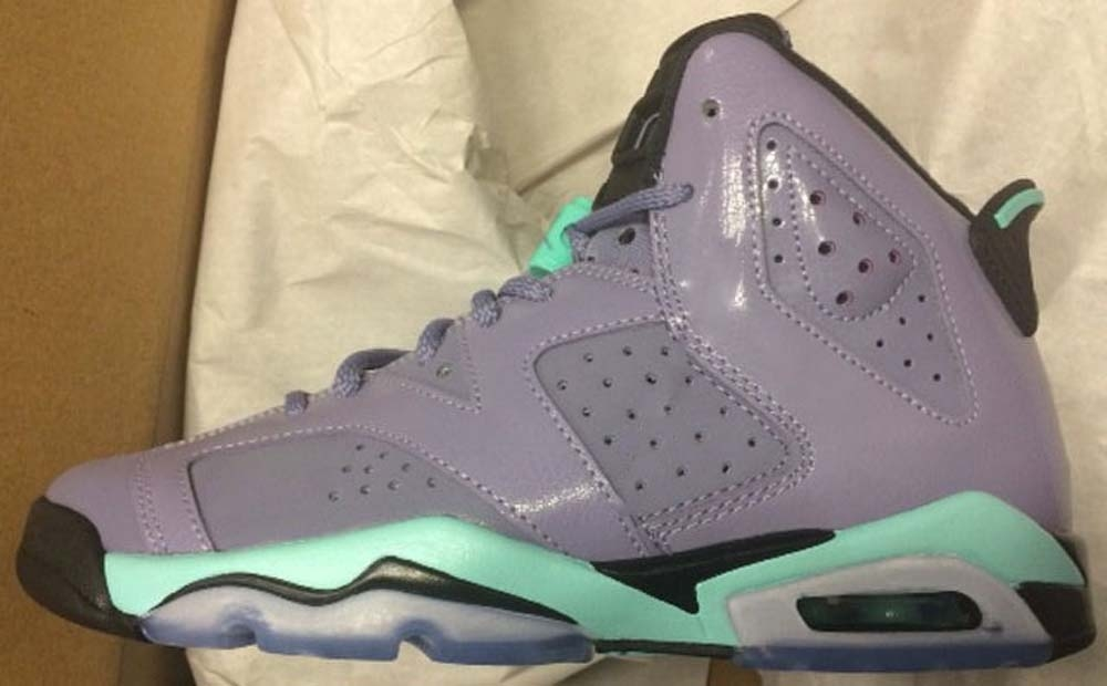 Air Jordan 6 Retro Girls Iron Purple/Bleached Turquoise-Black