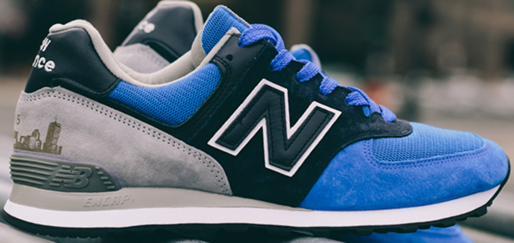 New Balance 574 Blue/Black-Grey