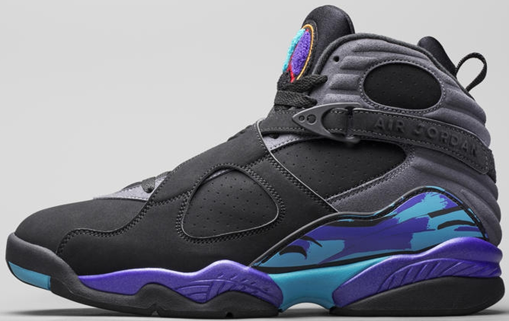 Air Jordan 8 Retro Black/True Red-Flint Grey-Bright Concord