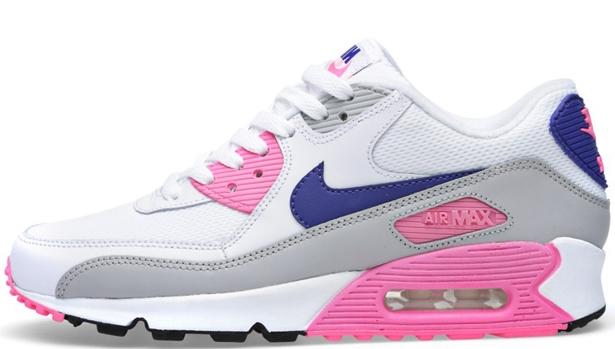 Nike Air Max '90 Essential Women's White/Concord-Zen Grey-Pink Glow