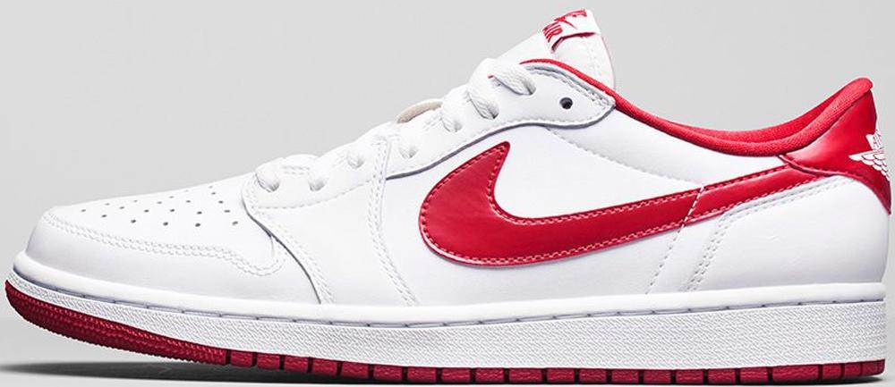 Air Jordan 1 Retro Low OG White/Varsity Red-White