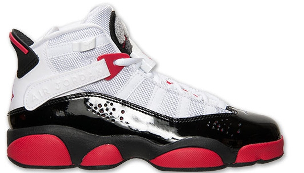 Jordan 6 Rings Girls White/Legion Red-Black-Wolf Grey