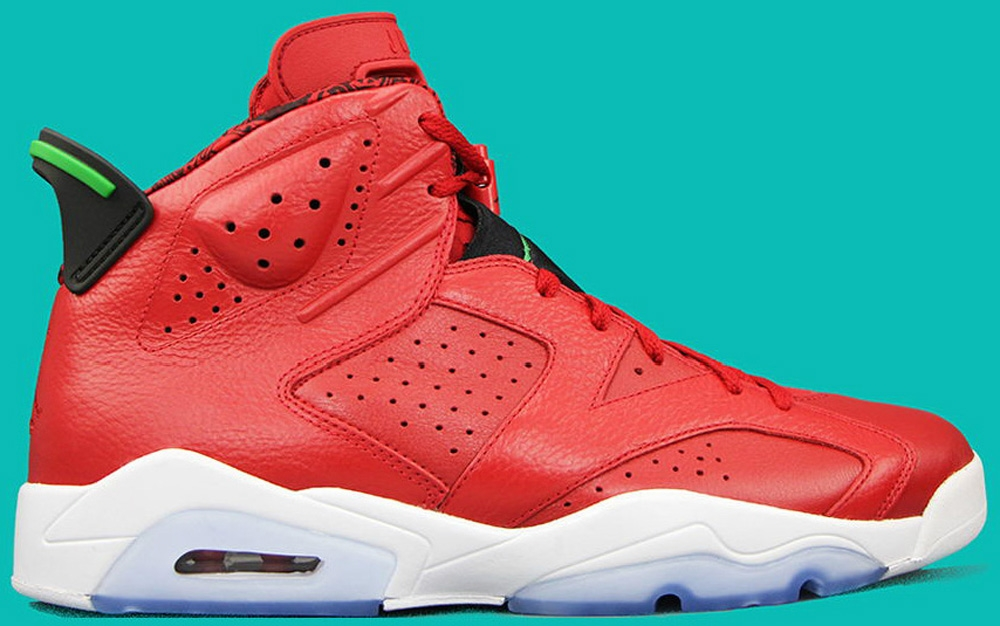Air Jordan 6 Retro Spizike Varsity Red/Classic Green-Black-White