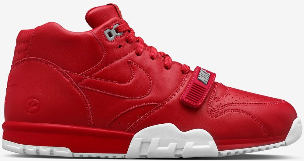 fragment design x NikeLab Air Trainer 1 Mid Premium Gym Red/White