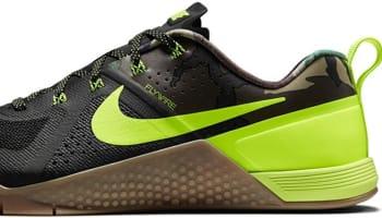 Nike Metcon 1 Amp Black/Gum Medium Brown-Volt