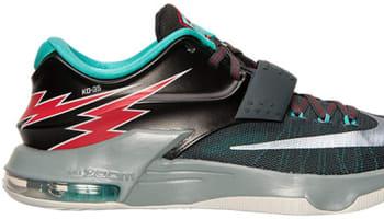 Nike KD VII Classic Charcoal/Dove Grey-Light Retro-University Red
