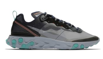 Nike React Element 87 Black/Neptune Green-Bright Mango-Midnight Navy