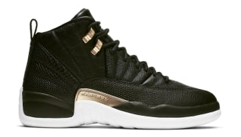 3cde276333cb Air Jordan 12 Retro Women s Black Metallic Gold-White