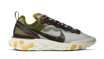 new product 069f5 ee7e7 Nike React Element 87 Moss Black-El Dorado-Deep Royal Blue