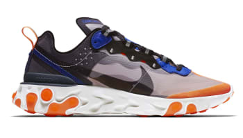 Nike React Element 87 Wolf Grey/Thunder Blue-Total Orange-Black