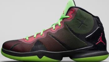 Jordan Super.Fly 4 Black/Bright Crimson-Electric Green