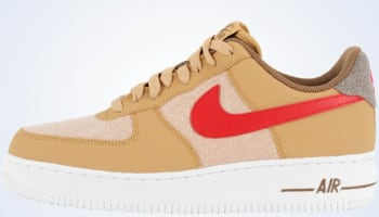 Nike Air Force 1 Low Jersey Gold/Sport Red-White
