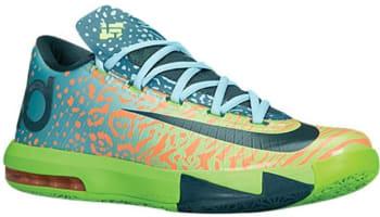 Nike KD VI Electric Green/Night Factor-Atomic Orange