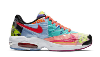 Atmos x Nike Air Max2 Light Black/Bright Crimson