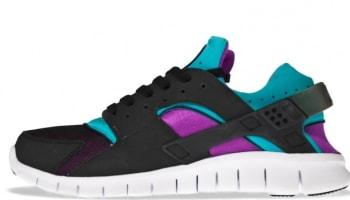 new product 01915 f3182 Nike Huarache Free Run 2012 Black Neo Turquoise-Magenta