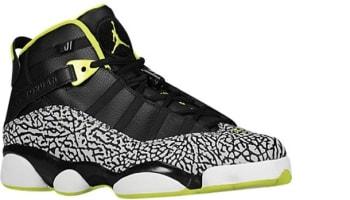 Jordan 6 Rings Black/Venom Green-White-Cement Grey