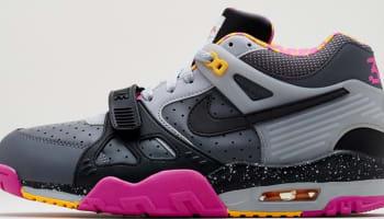Nike Air Trainer III Premium QS Dark Grey/Black-Wolf Grey-Club Pink
