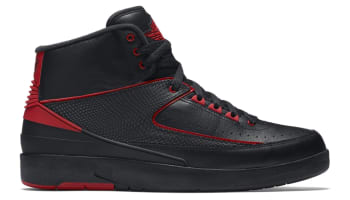 Air Jordan 2 Retro Black/Gym Red-Black