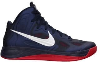 Nike Zoom Hyperfuse 2012 Obsidian/White-University Red