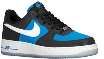 Nike Air Force 1 Low Black/Light Photo Blue-White