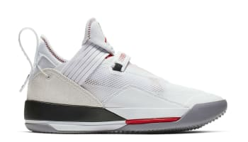 Air Jordan 33 Low SE White/Metallic Gold-Gym Red
