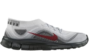 cheap for discount 20d79 a5973 Nike Free Flyknit Pure Platinum University Red-Wolf Grey-Dark Grey