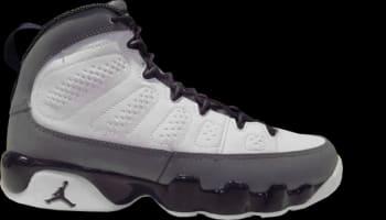 Girls Air Jordan 9 Retro GS White/Imperial Purple-Cool Grey