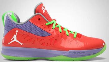 Jordan CP3.V Bright Crimson/White-Violet Purple-Electric Green