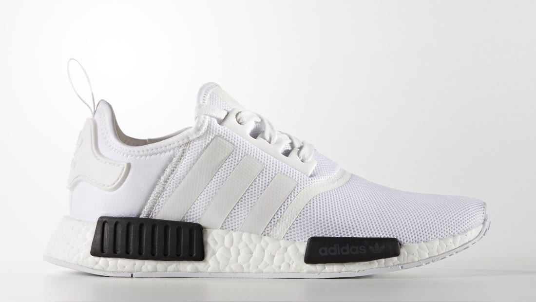 adidas nmd white and black