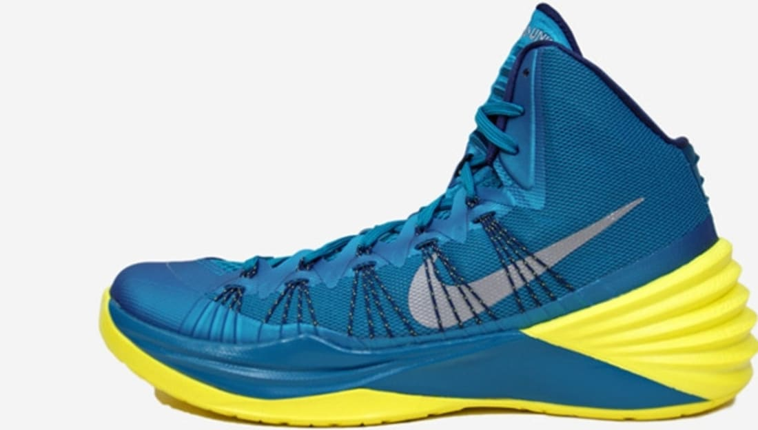 9d72ca54d760 Nike Hyperdunk 2013 Tropical Teal Midnight Navy-Sonic Yellow