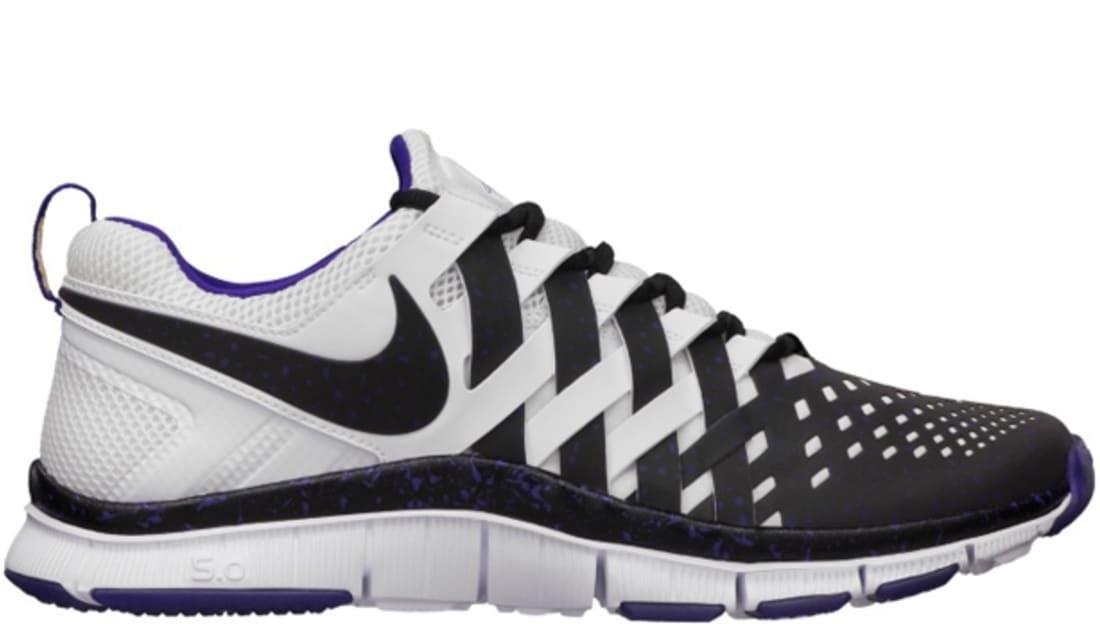 nike free trainer 5.0 nfl black/white-electro purple mattress