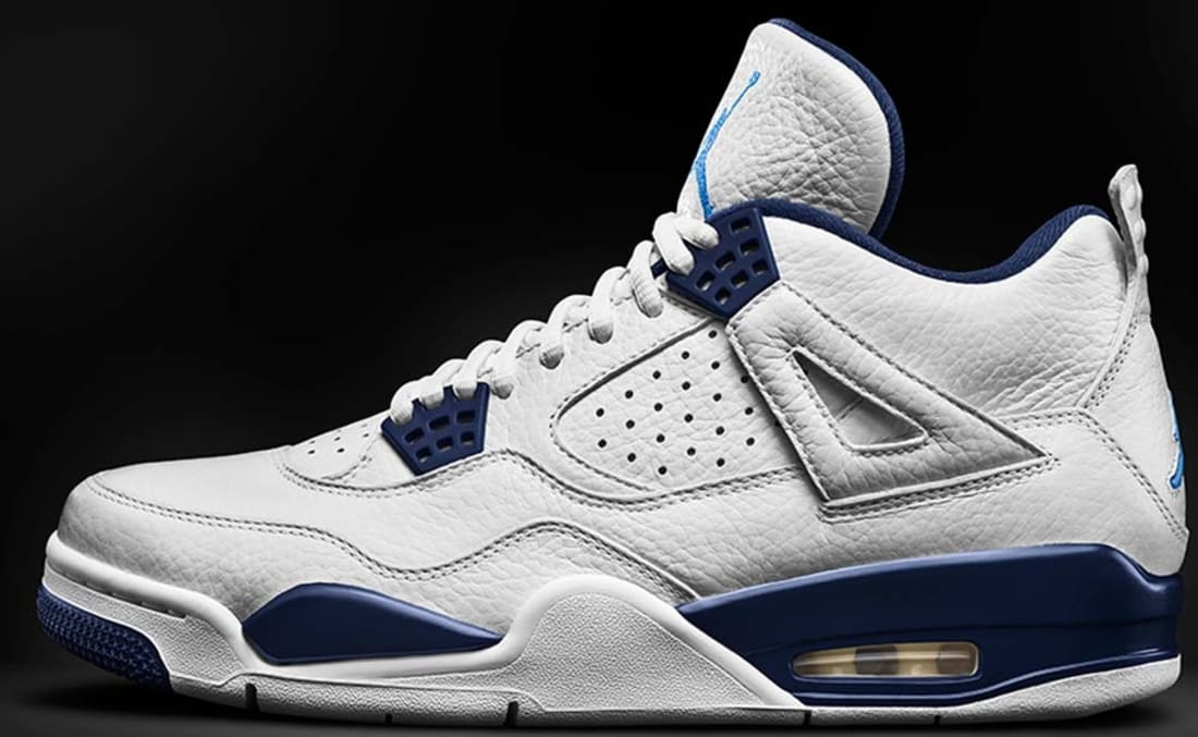 air jordan 4 retro ls - white/legend blue-navy