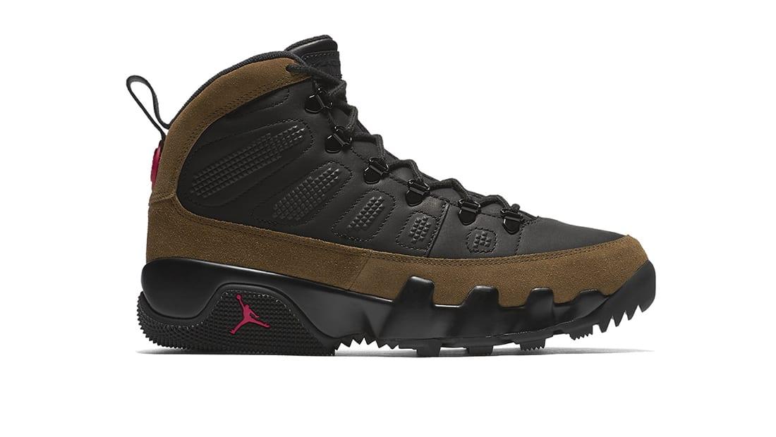air jordan ix boot nrg black\/olive green