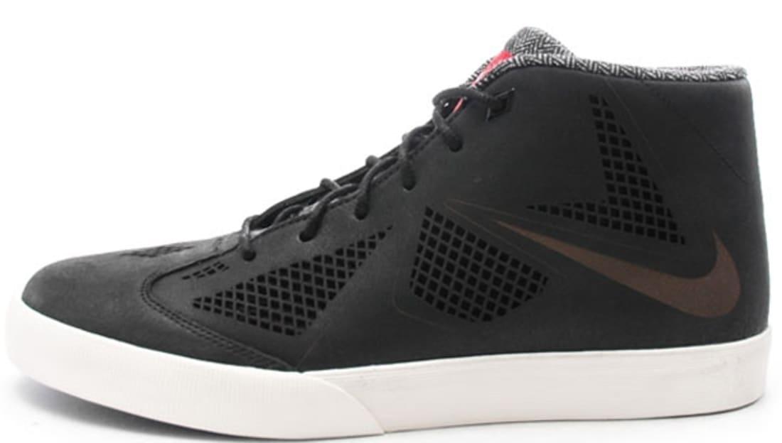 Nike LeBron X NSW Black Sail Sneakers (Black/Black-Sail-University Red)