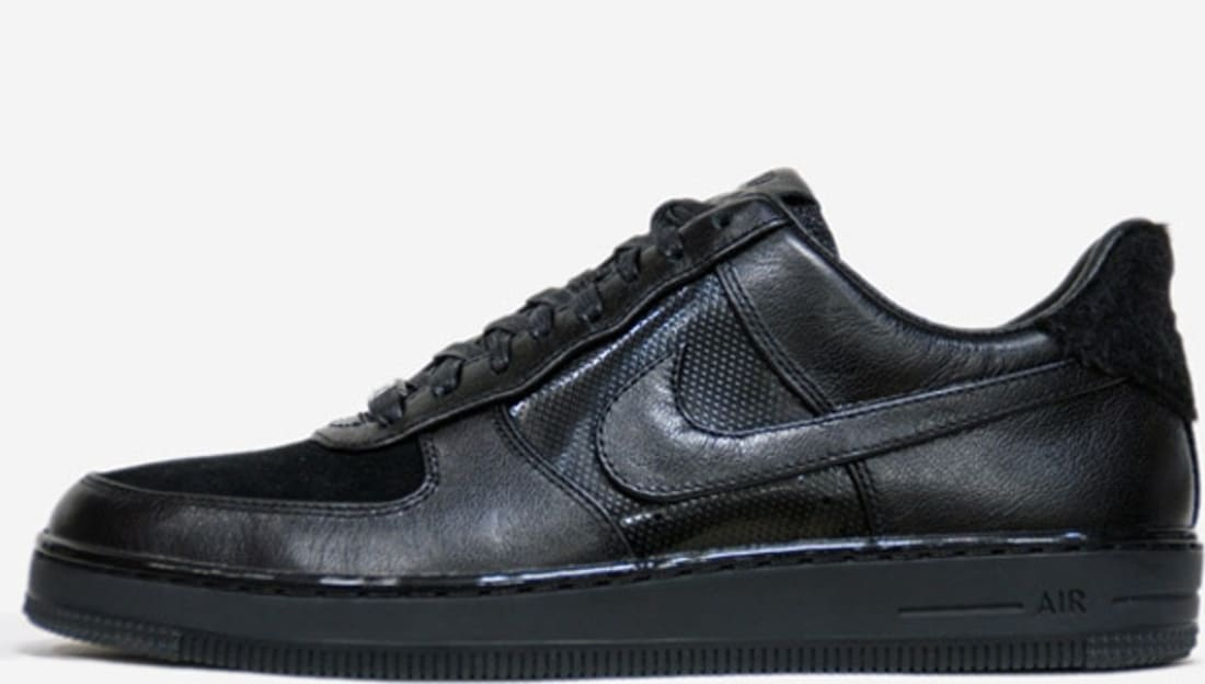 nike air force 1 downtown leather qs black\/black-anthracite