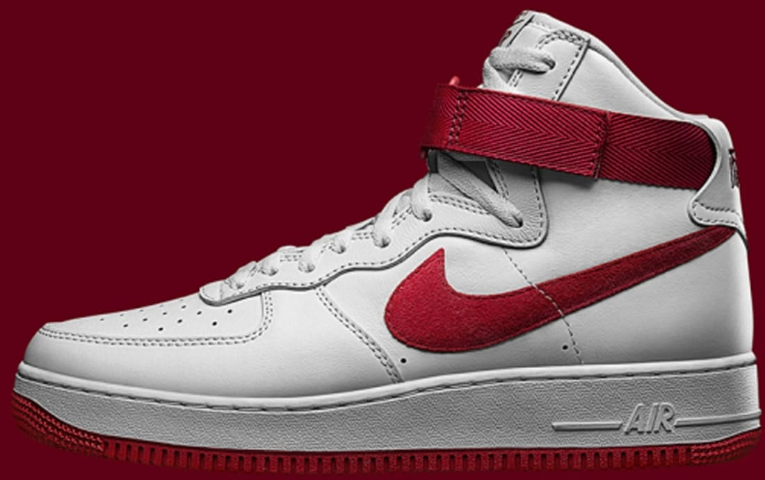 nike air force red and white high top