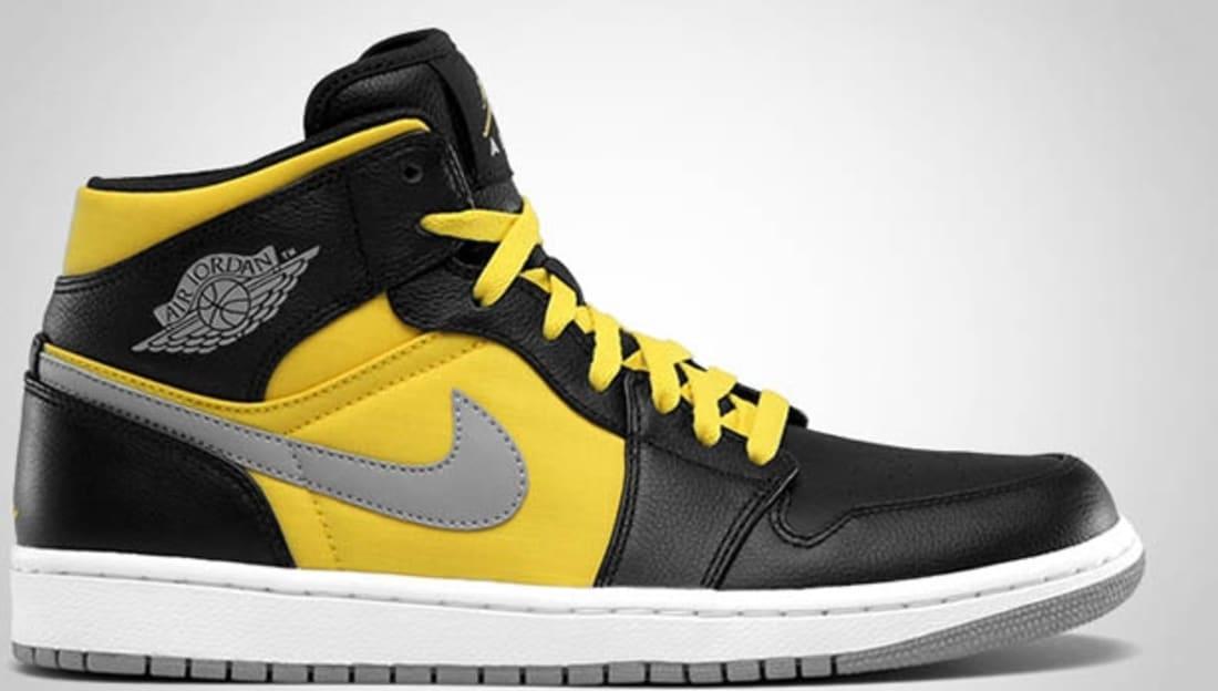 huge discount fc926 9da5c ... Air Jordan 1 Phat Mid Black/Stealth-Speed Yellow-White . ...