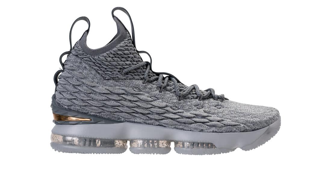 Nike LeBron 15 City Edition Wolf GreyMetallic GoldCool Grey New Release