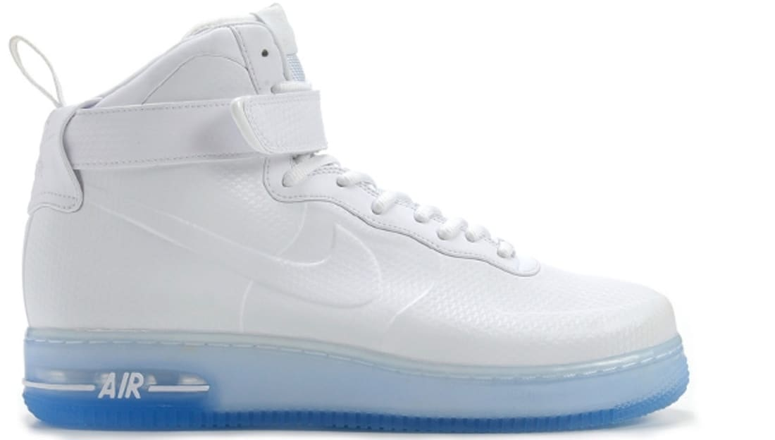 purchase cheap 64f8c 30c6c ... Nike Air Force 1 High Foamposite QS WhiteWhite Nike Sole Collector ...