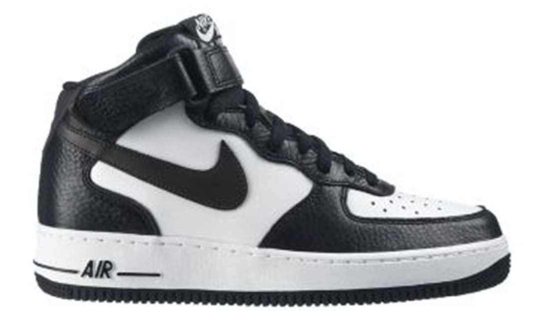 nike air force 1 mid black anthracite white nike sole collector