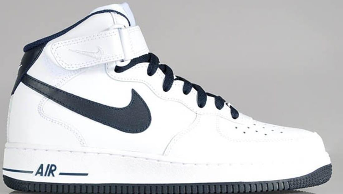 Nike Air Force 1 White White Dark Obsidian