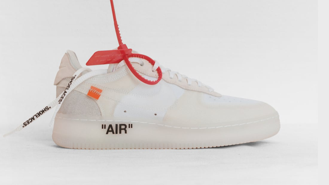 Fresh OFF-WHITE x Nike Air Force 1 Black Silver Shoe For Sale