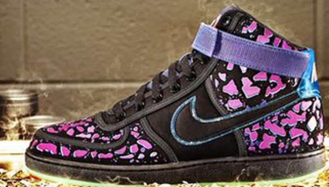 Nike Vandal High Area 72 Sneakers (Black/Black-Total Crimson-Violet Force)