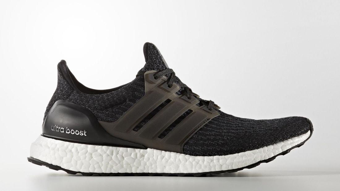 adidas boost black white