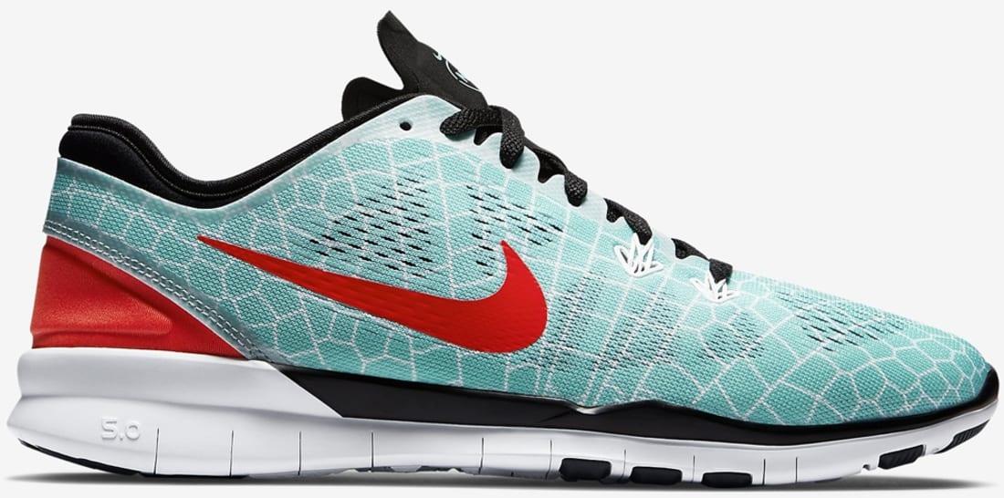 Nike Free 5.0 Tr Fit 5 Print N7 Hyper Turquoise / Black / White / Bright Crimson