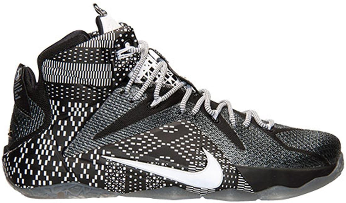 Nike LeBron 12 BHM Black/Grey-White
