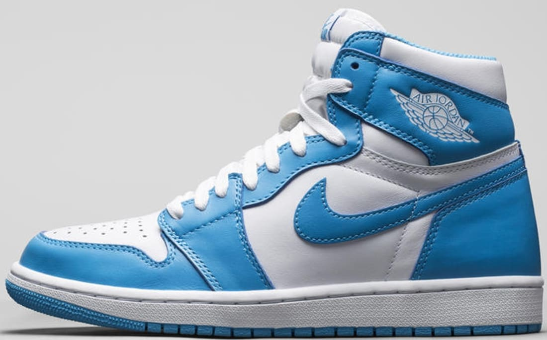 air jordan 1 retro - white/powder blue