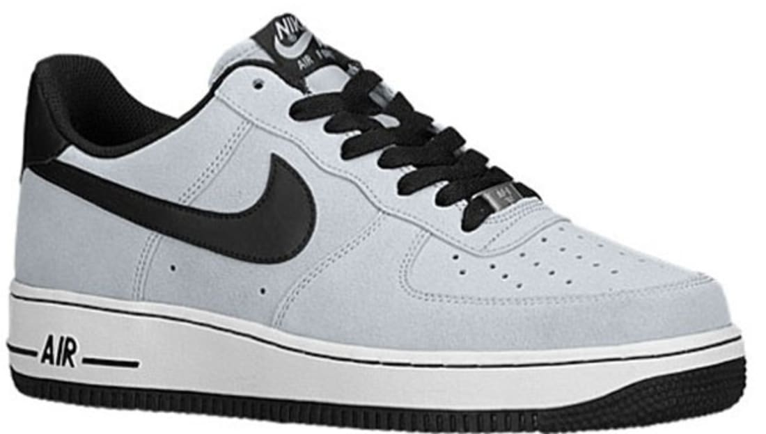 black and gray nike air force 1