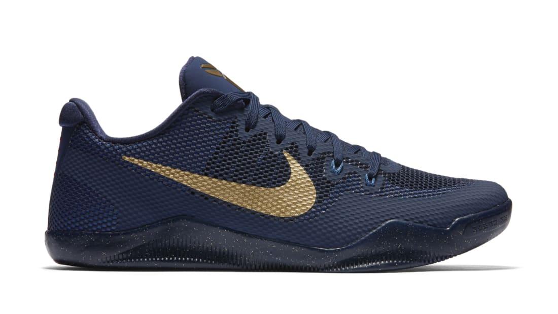 Nike Kobe XI Midnight Navy Blue Metallic Gold US Size 11