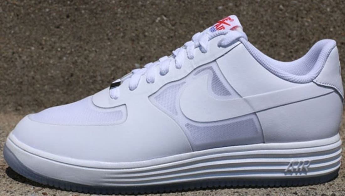 Nike Lunar Force 1 Fuse Leather White Challenge Red